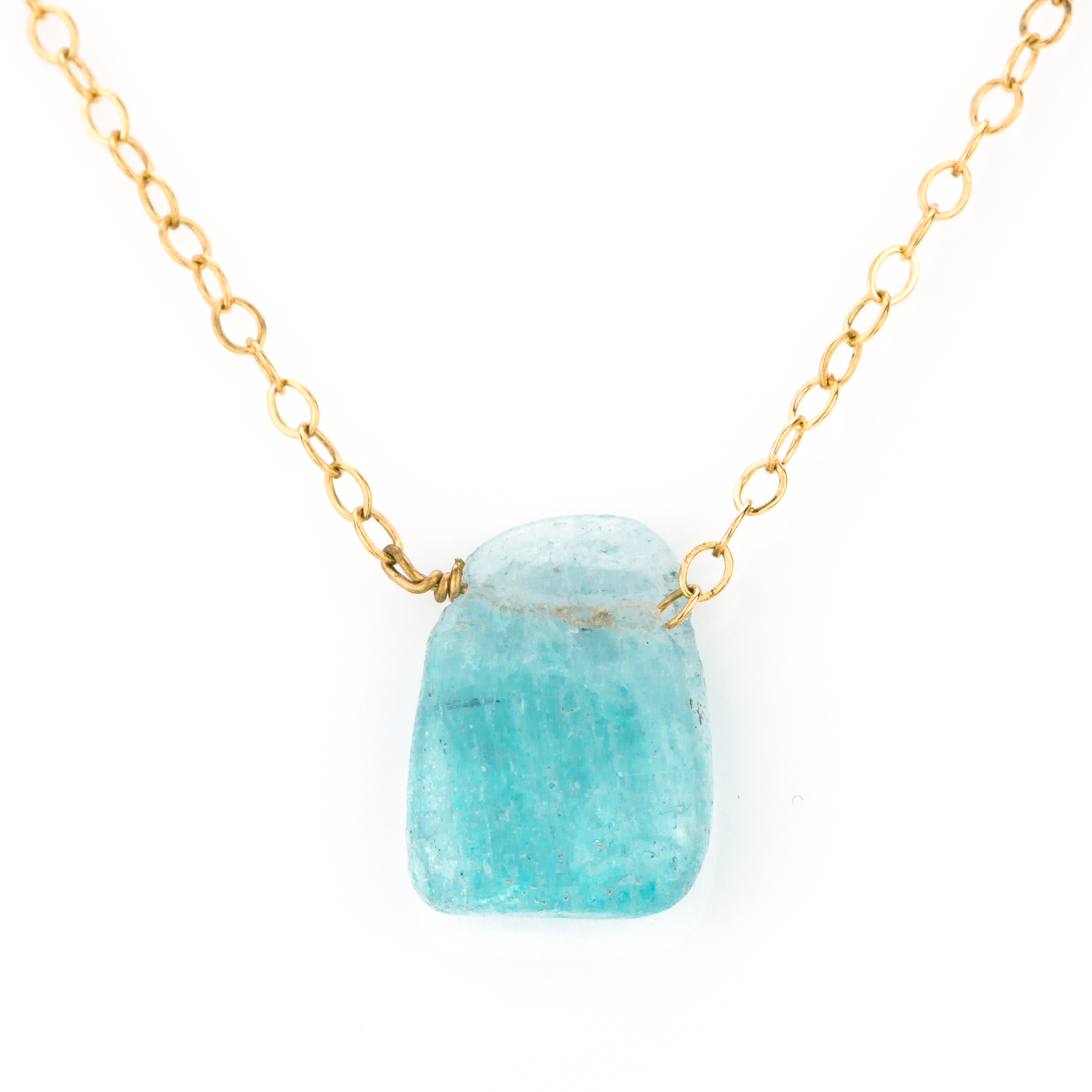 marquise pendant cut necklace ctw in gold aquamarine