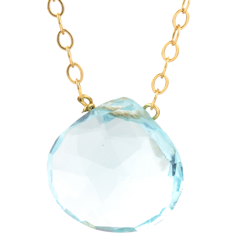 aquamarine white diamond gold in with aqua marine pendant
