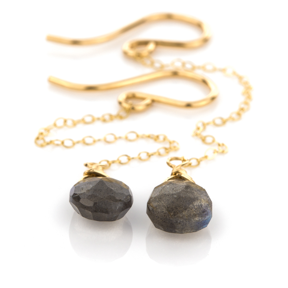 Rain Drop Earring in Labradorite
