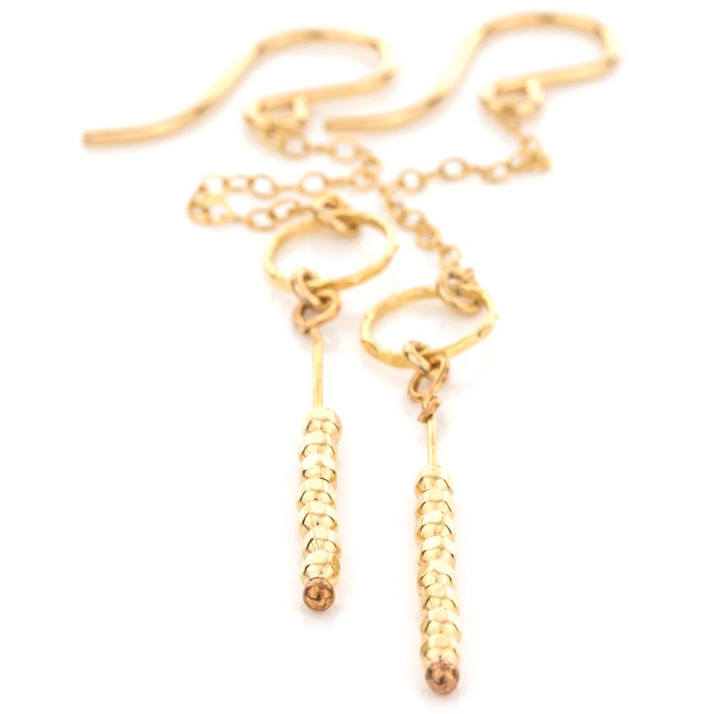 Satellite Circle Earrings in Gold