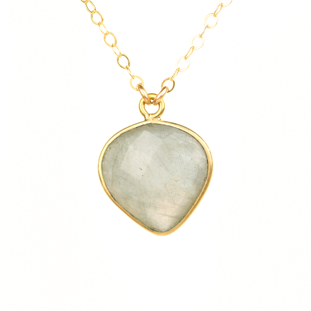 Bezel Set Labradorite Triumph Necklace (BSLHN)