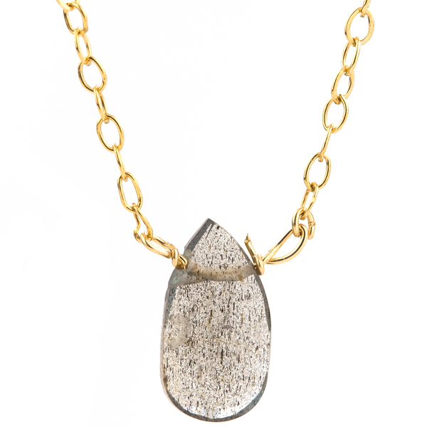 Rain Drop Necklace in Iolite