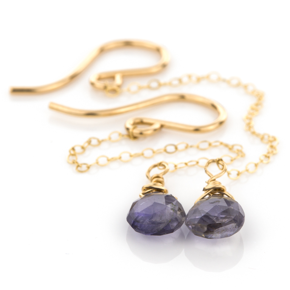 Rain Drop Earrings in Iolite