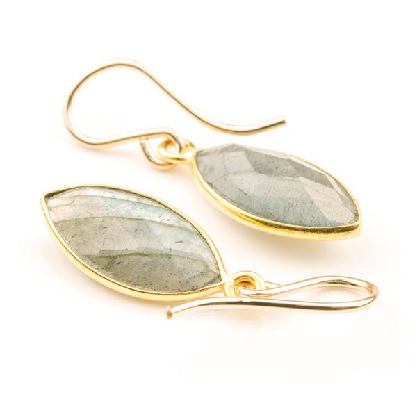 Bezel Set Labradorite Almond Drops (BSLR0)