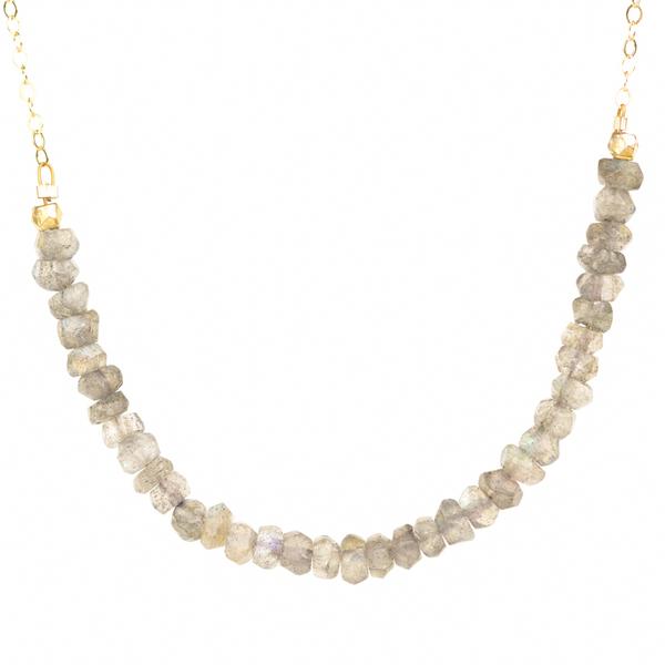 Theatre Necklace in Small Labradorite (TNSML)